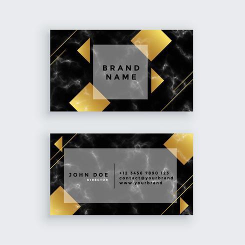 elegant guldmarmor affärskortdesign