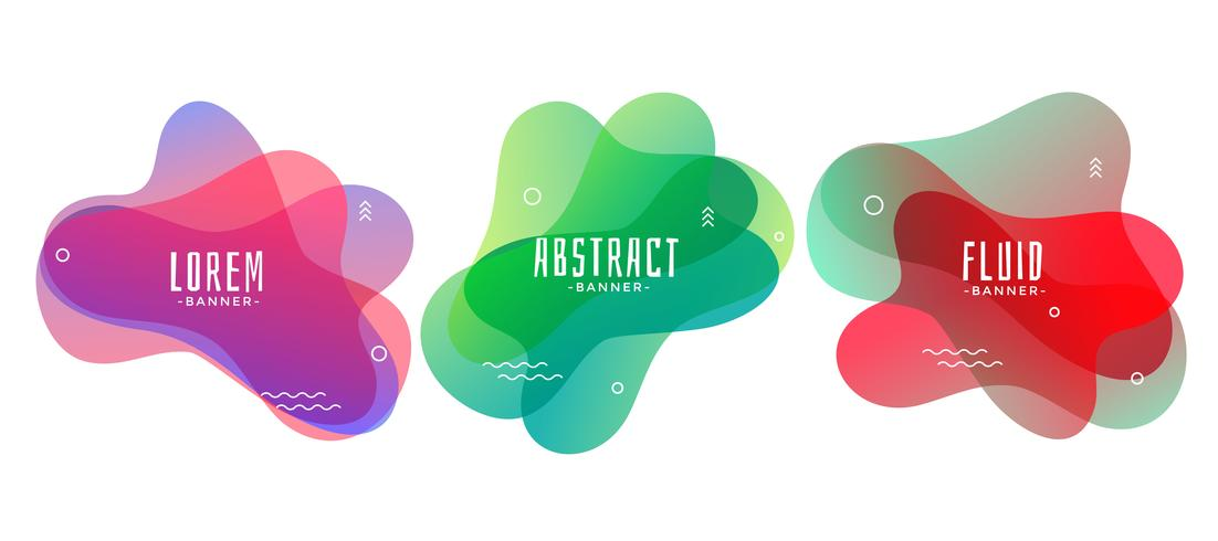 uppsättning abstrakta flytande eller flytande form banners