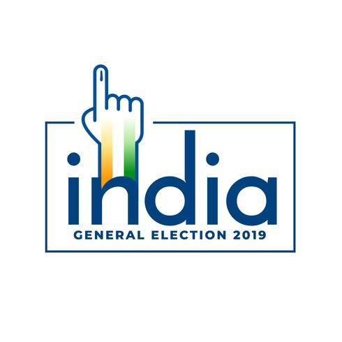 Indiens allmänna val 2019 röstkonceptdesign