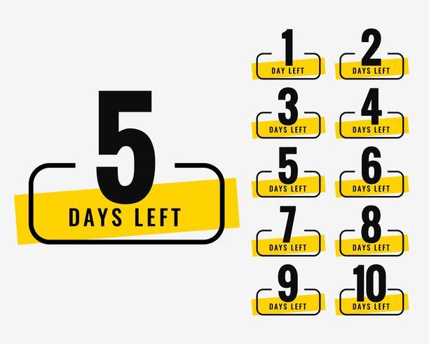 aantal resterende dagen reclamebannersymbool