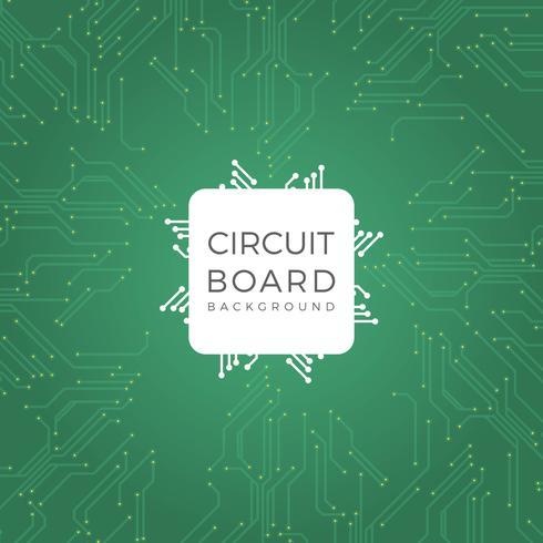 Ilustración de Vector de placa de circuito verde moderna plana