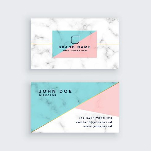 marmor visitkort i pastellfärger