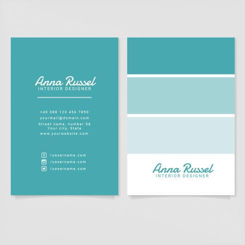 Vector Interior Designer Business Card Template