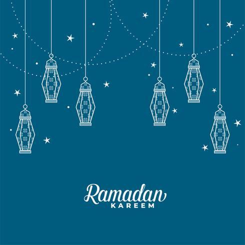 Linterna islámica colgante Ramadán kareem fondo decorativo
