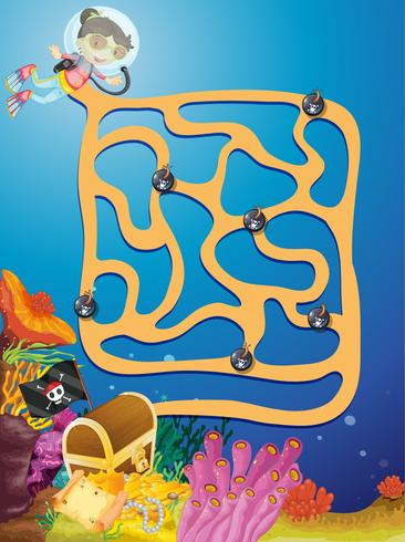 Puzzle game labirinto sotterraneo