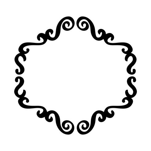 Flourish Vintage vector frame