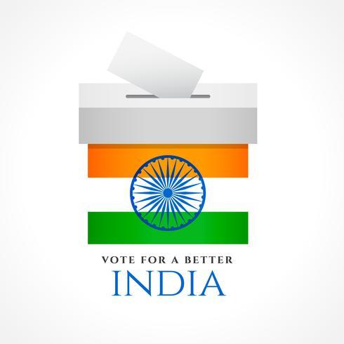Indien rösta koncept design med flagga