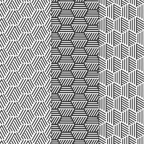 Vektor Geometriska Mönster Set