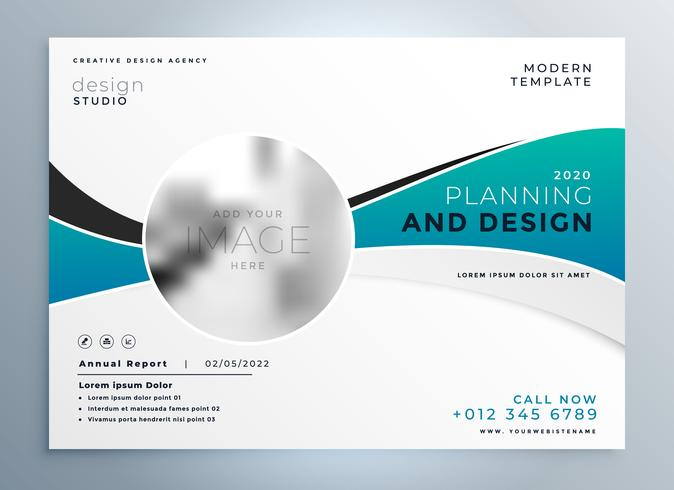 modern business presentation cover brochure template