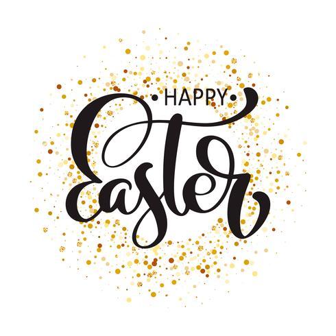 """""""Happy Easter"""" testo disegnato a mano calligrafia"""