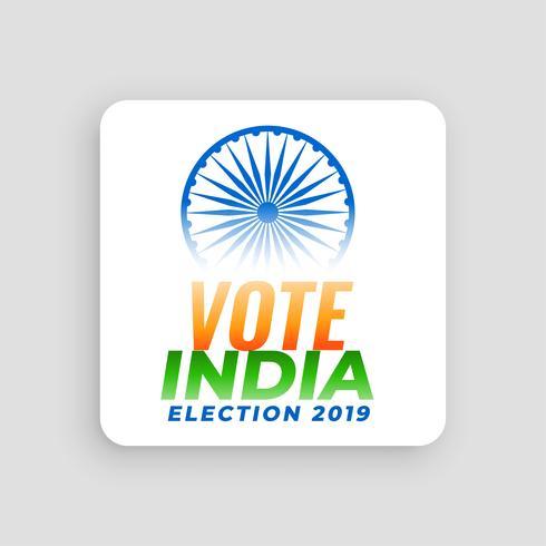 rösta indiens val 2019 konceptdesign