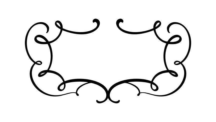 Cadre de calligraphie Vintage vector