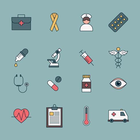 Gesundheitspflege-Symbole