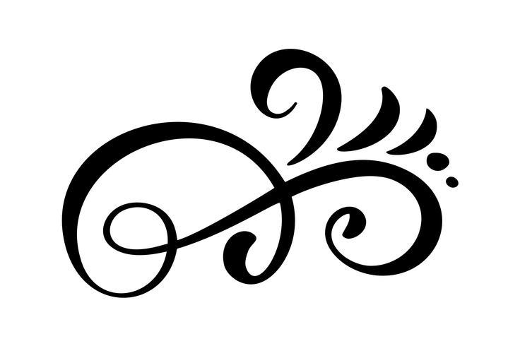 Vektor vintage linje eleganta dividers och separatorer, virvlar, och hörn