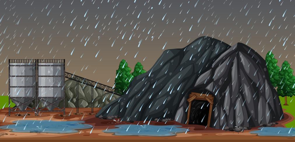Eine regnerische Nacht bei mir