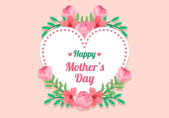 Quadro de flor do dia das mães