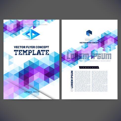 Abstraktes Vektorschablonendesign, Broschüre, Website, Seite, Broschüre, mit bunten geometrischen dreieckigen Hintergründen vektor