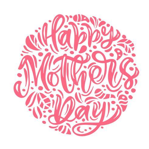S'épanouir autour de fond scandinave Bonne fête des mères