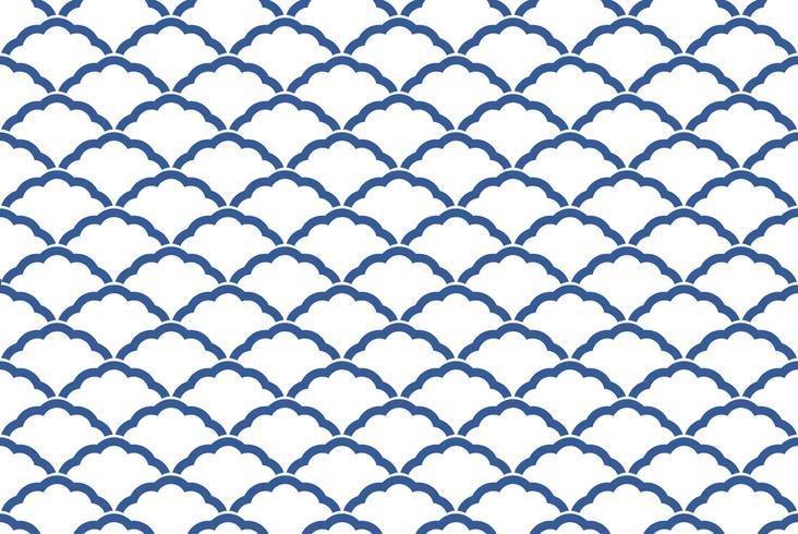 Patrón tradicional japonés, sin fisuras. Repetible horizontal y verticalmente.