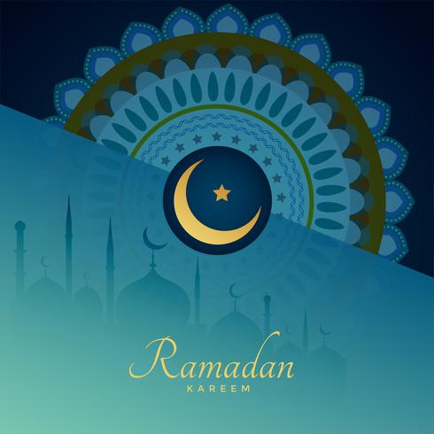 elegante ramadan kareem patrón de fondo islamico