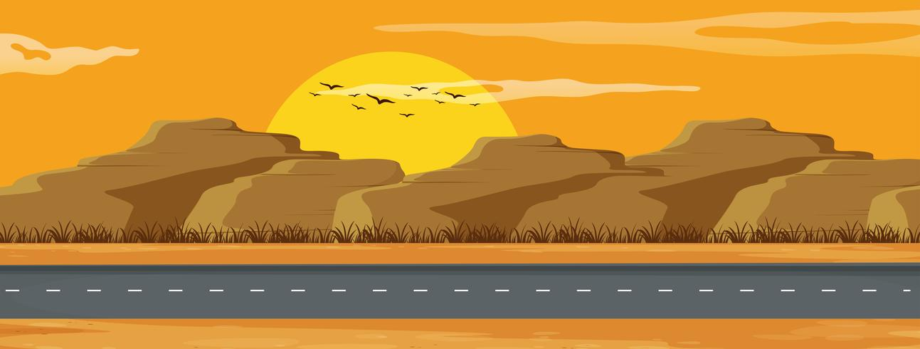 An arizona road landscape
