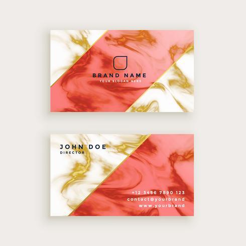 professioneel visitekaartjeontwerp in marmeren textuurontwerp