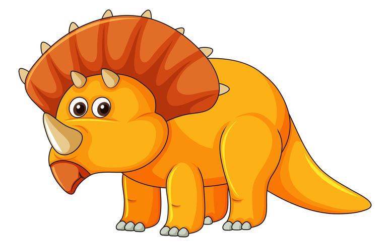 Ein Triceratops auf weißem Hintergrund