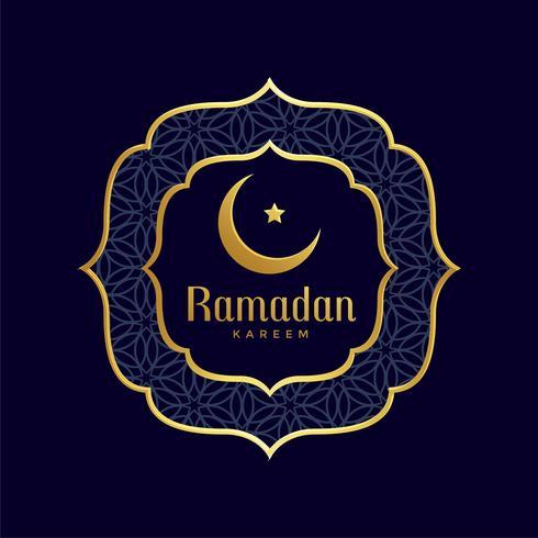 ramadan kareem islamisk gyllene bakgrund