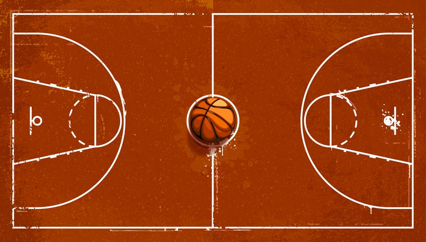 Grunge basketball playground