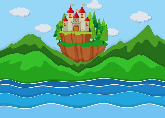 A beautiful castle on island