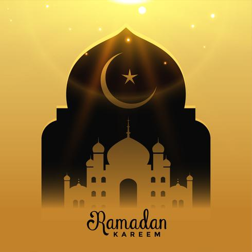 schöne Moschee mit fallendem Licht, Ramadan Kareem Hintergrund