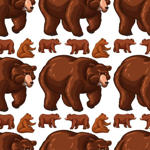 Seamless background with brown bears