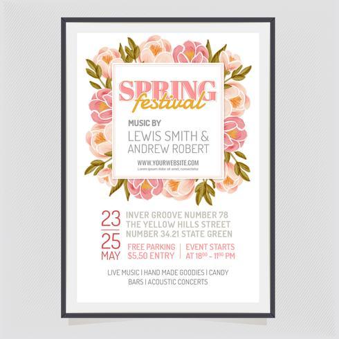 Vector Spring Festival Poster Design