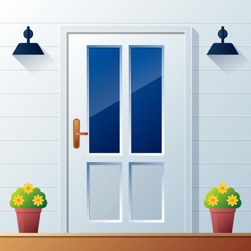 Ilustração em vetor fundo porta da frente
