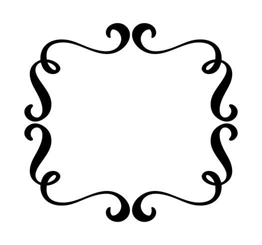 Vintage flourish vector frame