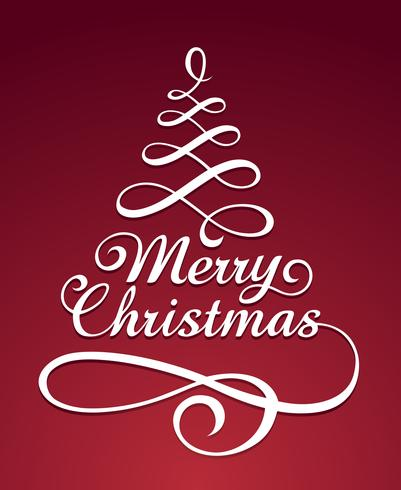 God Christmass typografi