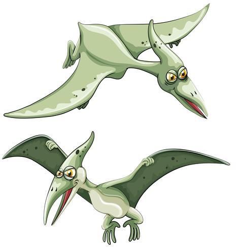 Pterosaur volando en el cielo