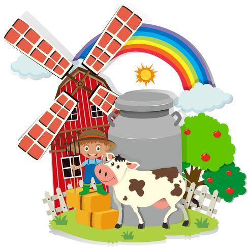 Contadino e contadino nella fattoria