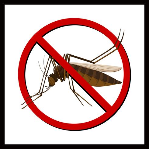 Signo de no mosquito