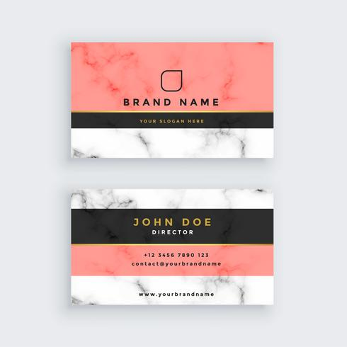 professional marble business card template