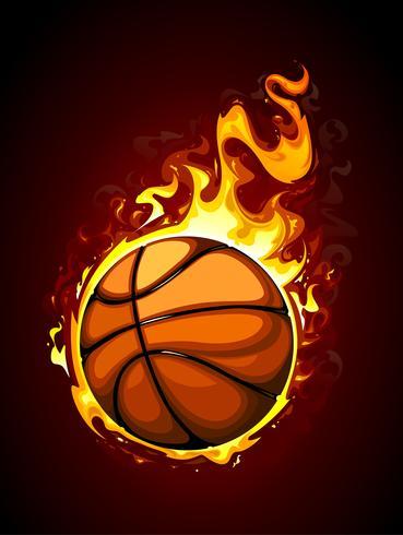 Baloncesto ardiente vector