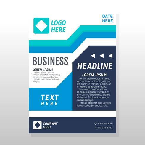 Diseño de folleto de negocios vector