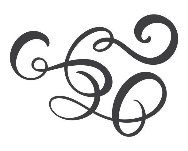 Vintage line eleganta dividers, virvlar runt, & hörn dekorativa prydnad