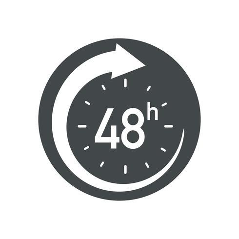 48h-Symbol. vektor