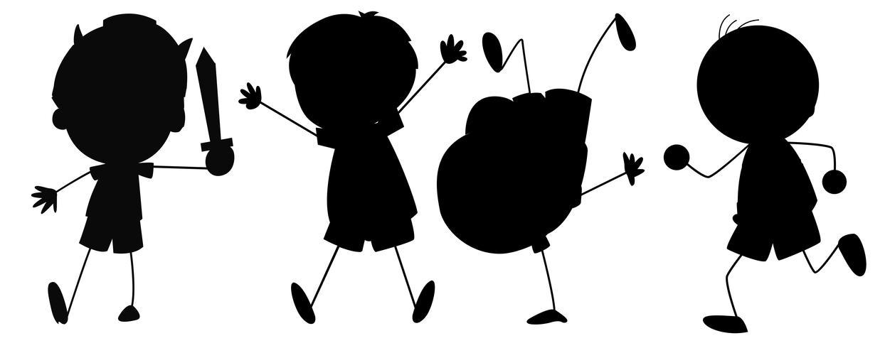 Silhouette grafica del ragazzo