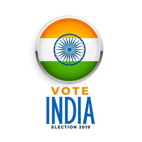 indian flagg etikett för val 2019
