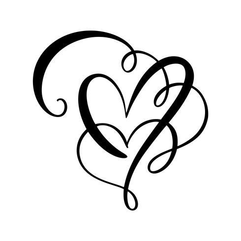 Ilustración de vector de signo de amor de corazón
