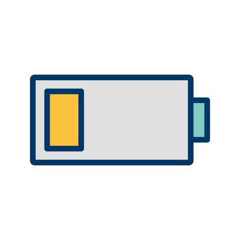Ícone de vetor de bateria fraca