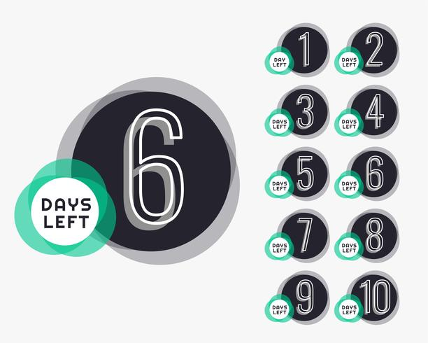 Anzahl der Tage des Countdown-Timers