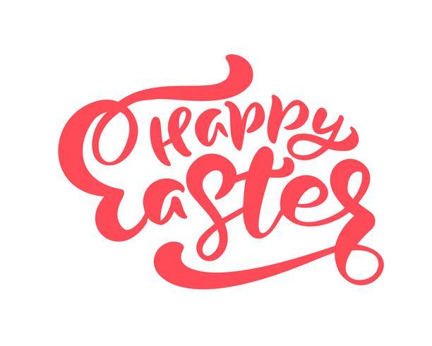 Rote glückliche gezeichnete Kalligraphie Ostern Hand